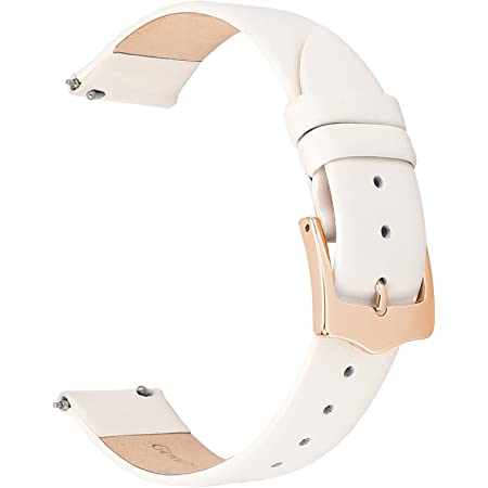 EACHE Bracelets de Montre en Cuir pour Femmes à dégagement Rapide Bracelets de Montre en Cuir Minces pour Dames Plus de Couleurs 12mm 14mm 16mm 18mm 20mm
