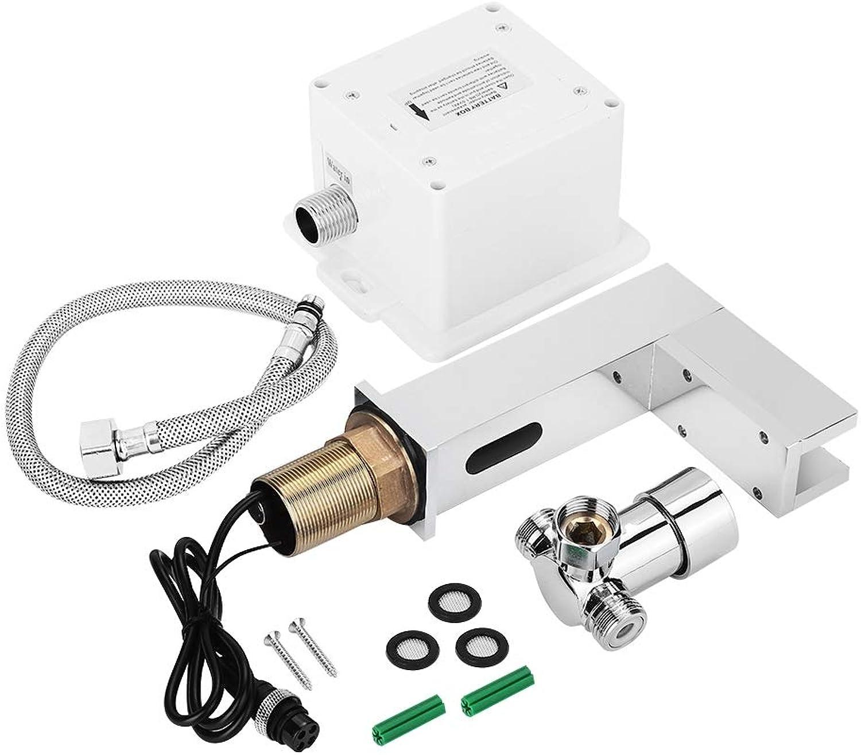 Induktive Temperaturregelung Farbwechsel Wasserhahn, Temperatursensor Steuerhahn 3 Farben ndern LED-Licht Wasserhahn Waschbecken G1   2