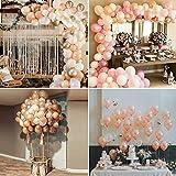 MMTX Ballon Girlande Set Roségold, Doppelt Luftballon Girlande Party Deko, 5m Ballonbogen Kit Latex Ballons JGA Luftballons Hochzeit für Geburtstag Mädchen Baby Dusche - 4