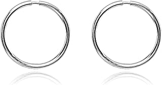 14K Gold Tiny Small Endless 10mm Round Thin Lightweight Unisex Hoop Earrings