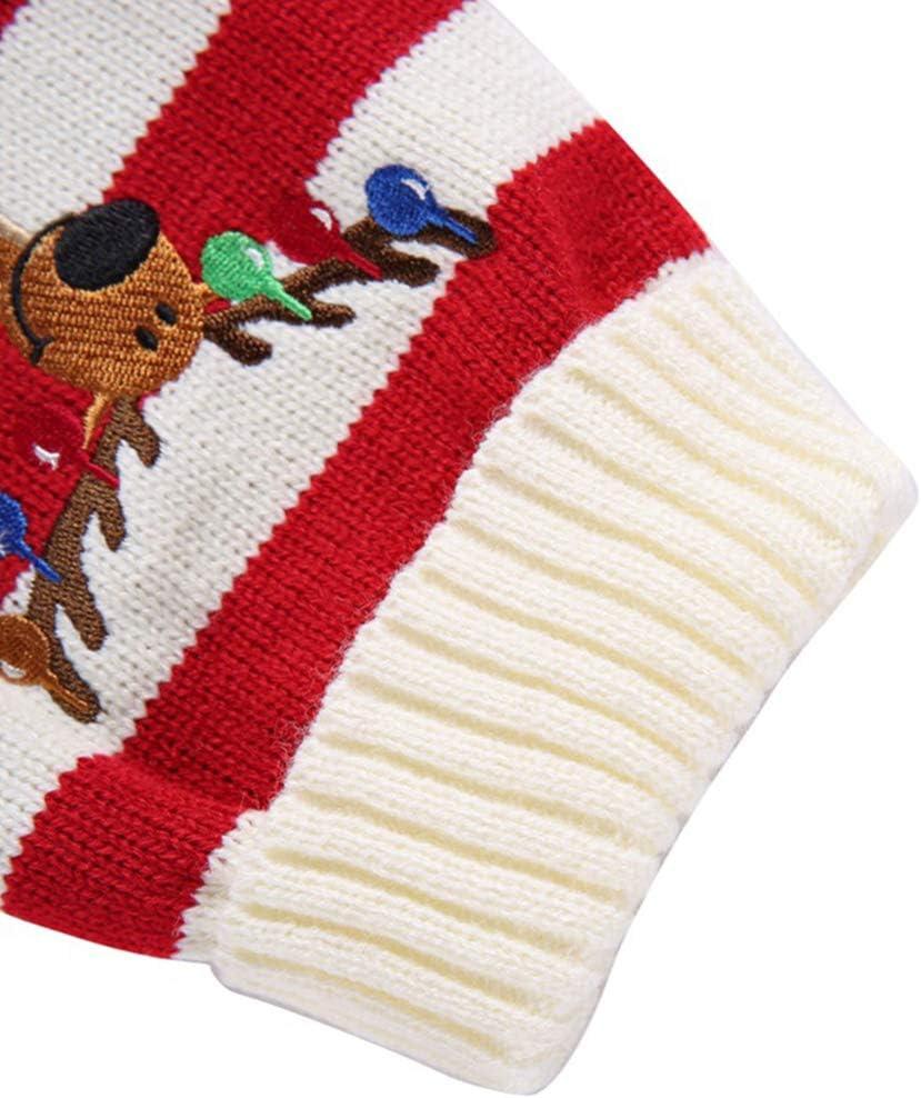 Gr/ö/ße XS Balacoo Weihnachtspullover f/ür Welpen Weihnachts-Kost/üm Rentier-Motiv Weihnachts-Elch-Kleidung Strickwaren Rot