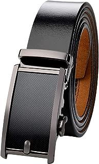 VRLEGEND Cintura uomo pelle cinta pelle fibbia casuale classico dellannata della pelle bovina Cintura di vita Regolabile fino a 175 cm