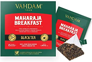 English Breakfast Tea (30 Black Tea Bags)   HIGH ENERGY & CAFFEINE - Healthy Coffee Replacement   Strong, Robust & Flavoury Black Tea Bags   Brew Hot, Iced, Kombucha Tea, Milk Tea   ANTIOXIDANTS RICH