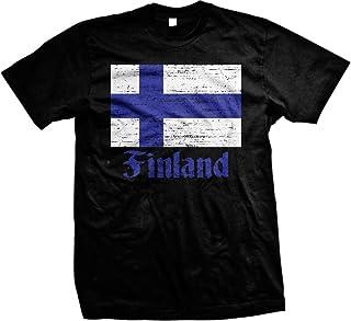 NOFO Clothing Co Flag of Finland, Finn Flag Suomi Pride Men's T-Shirt