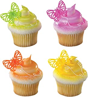 DecoPac Butterfly Brights Cupcake Rings (12 Count)