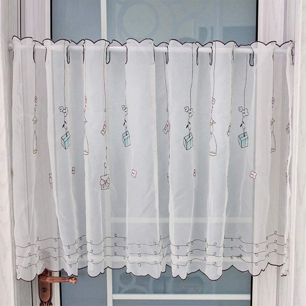 Max 76% OFF LDJ Tier Curtains Semi Popular products Sheer Short Valances Curtain Kitchen V