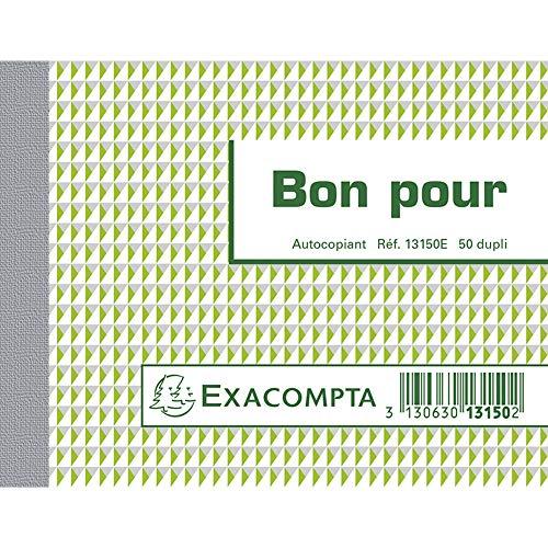 Exacompta 13150E Manifolds BON POUR , 10.5 x 13.5 cm, 50 feuillets Dupli autocopiant