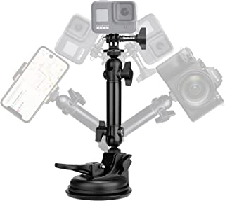 Action Camera Smartphone Suction Cup Race Car Cockpit Mount Motion Camcorder Vehicle Windshied Hood Rooftop Holder for GoP...