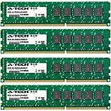 A-Tech 32GB KIT (4 x 8GB) for Asus P8 Motherboard Series P8B WS, P8B-C/SAS/4L, P8B-E/4L, P8B-M, P8B-MX, P8B-X, P8C WS DIMM DDR3 ECC Unbuffered PC3-10600 1333MHz Single Rank Server RAM Memory