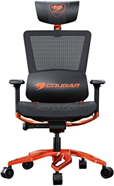 COUGAR Argo The Combination of Gaming and Ergonomics with a Premium Aluminum Frame and Highly Breathable Mesh Cushion (Black & Orange)