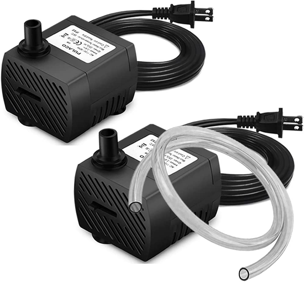 PULACO SEAL limited product 2 Pcs Mini Submersible Water for Aquarium 5W At the price 95GPH Pump