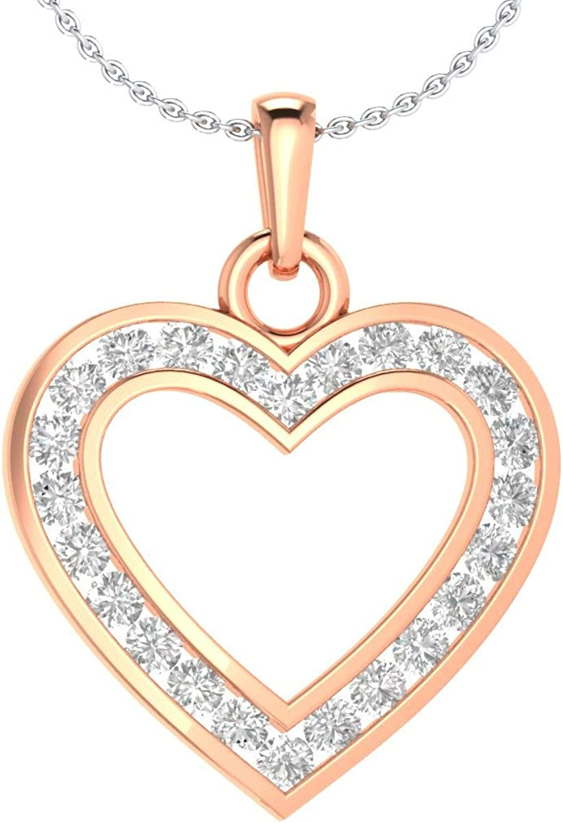 DT Our shop OFFers the best service Selling and selling JEWELS 0.70 CT Heart Cut Fashion Pendan Cubic Circle Zirconia