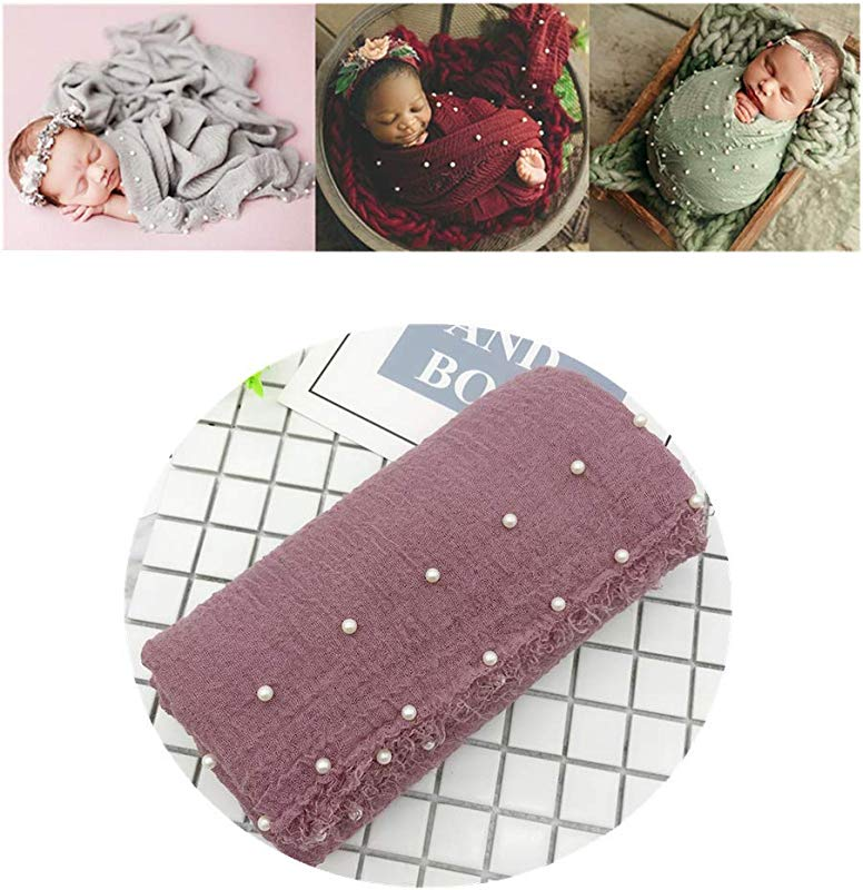 Newborn Baby Infant Photography Props Boys Girls Photo Shoot Long Ripple Wrap DIY Blanket