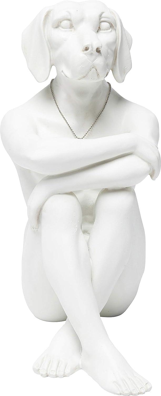 Kare Design Deko Figura Decorativa, Gangster Dog Crema, Blanco, 33x17x26cm