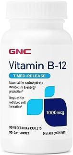 GNC Vitamin B-12 1000mcg, 90 Caplets, Supports Energy Production