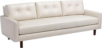 Amazon.com: vidaXL Convertible Sofa Bed Fabric Cream Couch ...