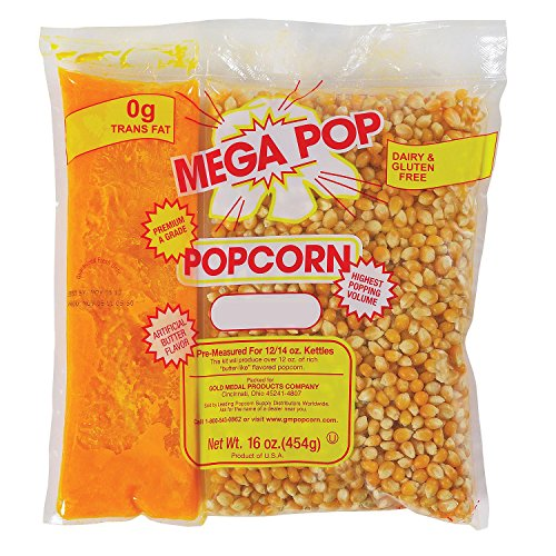 Best Buy! Gold Medal Mega Pop Popcorn Kit (12 oz. kit, 24 ct.) - (Popcorn Kernels & Flavorings)