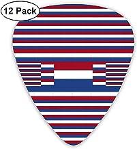 Púas de guitarra de la bandera de los Países Bajos, paquete de 12, 3 tamaños diferentes que incluyen: delgado, mediano y pesado