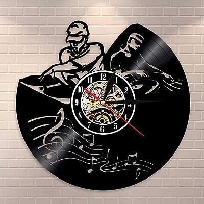 LPHMMD Reloj de Pared de Vinilo Record Player Mixer DJ Reloj de ...