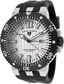 Swiss Legend For Men White Dial Silicone Band Watch - SL-10126-02S-BB