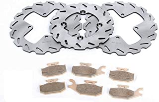 Race Driven Front & Rear RipTide Brake Rotors & Pads for Can-Am Bombardier Outlander Max XT 330 400 500 650 800R