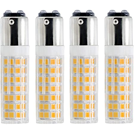 BA15D LED Bulb, Dimmable BA15D LED Light Bulb, 60W Halogen Bulb Equivalent, 6W, AC120V, Double Contact Bayonet Base (Warm White, 4)
