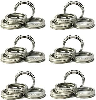 Mason Jar Replacement Rings or Tops Durable & Rustproof Tinplate Metal Bands/Rings for Mason Jar, Ball Jar, Canning Jars,Storage (Set of 24 Regular Mouth)