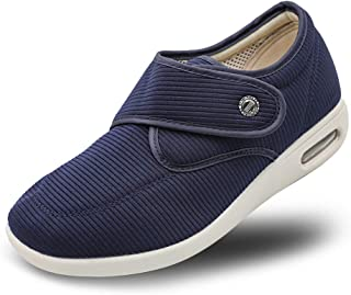 Secret Slippers Women's Diabetic Air Cushion Walking Shoes, Adjustable Breathable Mesh Lightweight Sneakers for Edema, Swollen Feet, Plantar Fasciitis, Elderly