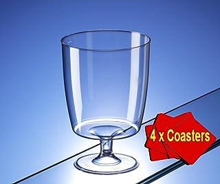 30unidades de copas de plástico desechables (200ml) ideales para picnics, acampadas y campings de lujo, festivales, piscinas, barbacoas, jardines y ocasiones especiales,paquete de 30 vasos con 4 posavasos en una caja