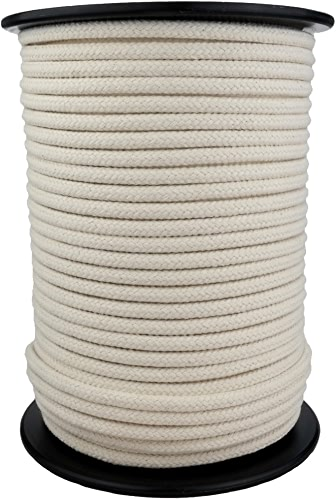 Corde Cordage en Coton 5mm 300m Blanc Crème tressé