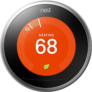Google T3007ES Nest Learning Thermostat 3rd Generation,...