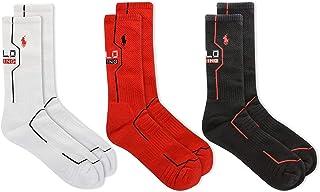 3-Pack Double Bar Stripe Crew Socks