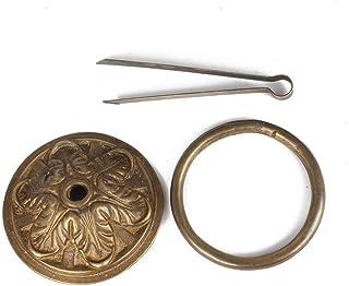 Aro de la puerta del aparador de armario retro Aldaba de estilo de casa de campo Puerta antigua Anillo de tiro de latón ma...