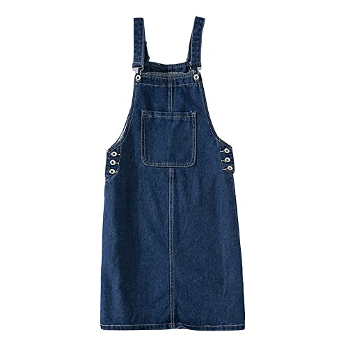 9fa5e48ceed4 Elwow Women Lady's Girls Denim Skirt Stretch Dungarees Dress Pinafore with  Pocket