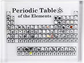 Expositor de mesa periódica de acrílico para niños, ense