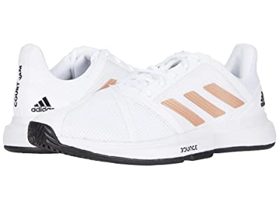 adidas CourtJam Bounce (Footwear White/Copper Metallic/Core Black) Women