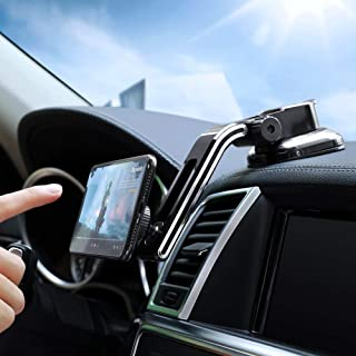 Dashboard Magnetic Car Phone Mount - FLOVEME Universal Strong Suction Cup 360 Hands Free Magnet Cell Phone Car Holder for ...