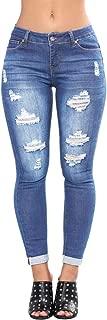 2019 Women's Capris Crop Jeans,Hole Skinny Pencil Denim Stretch Slim Fitness Pants Trousers by-NEWONESUN