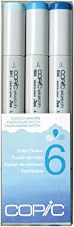 Copic Marker Sketch Color Fusion Markers, CSCF 6, 3-Pack