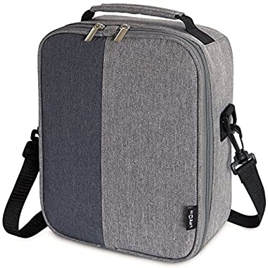 Lifewit Insulated Lunch Box Lunch Bag for Adults Men Women, Thermal Bento Bag with Adjustable Divider for Work/School/Picnic/Diet Management, Grey