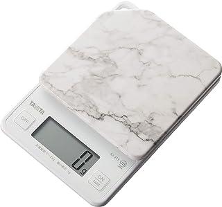 タニタ キッチンスケール はかり 料理 デジタル 2kg 1g単位 ストーンホワイト KJ-213 SWH すぐにピタッとはかれる