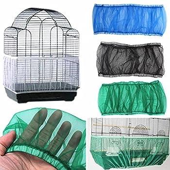 Catkoo Accessoires pour oiseaux - Filet en nylon ventilé - Housse anti-poussière - Pour cage à oiseaux - Blanc - M