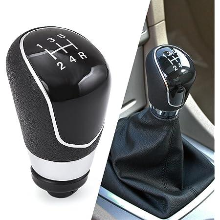 1neiSmartech Pomello Leva Cambio Manuale 5 Marce Ricambio Compatibile Per Auto Materiale Abs Manopola Leva Cambio 5 Velocit/Ã/ Verificare Modelli Auto Compatibili Colore Grigio