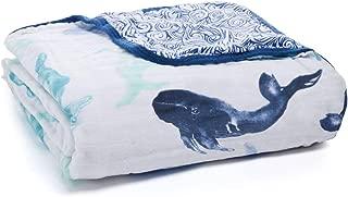 aden + anais Dream Blanket | Boutique Muslin Baby Blankets for Girls & Boys | Ideal Lightweight Newborn Nursery & Crib Blanket | Unisex Toddler & Infant Bedding, Shower Gift, Seafaring, Whale