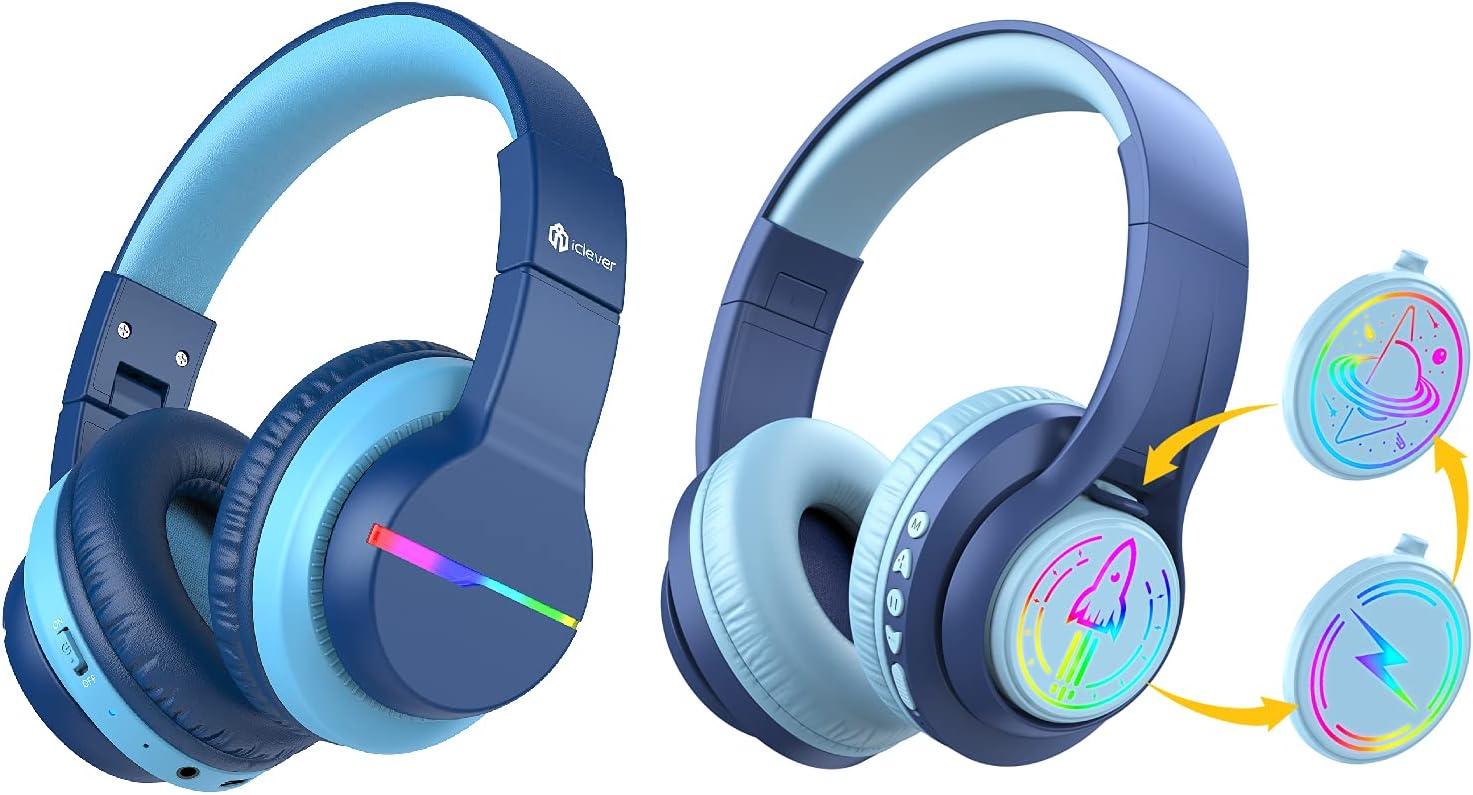 iClever BTH12 Kids Wireless and Replaceable Headphones Popular popular Over item handling ☆ TransNova