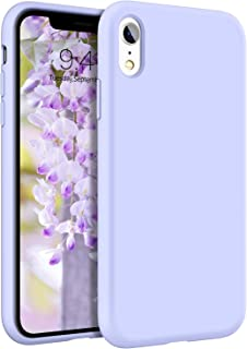 DOMAVER iPhone XR Hülle Liquid Silikon, iPhone XR Handyhülle Case iPhone XR Schutzhülle, Slim Cover Weiche Ultra Dünne Flü...