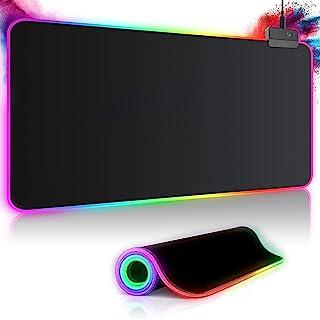 Gaming Mauspad RGB Mousepad 800x300mm XXL Gaming Mousepad groß mit 14 Beleuchtungs Modi 7 LED Farben Wasserdicht Anti Ruts...