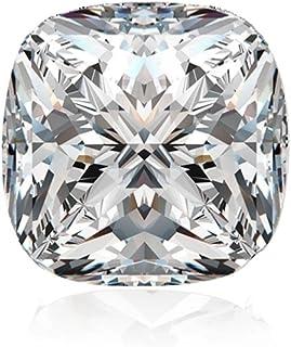 Diamonbella Realistic 101 facets 2 Carat Princess Cushion Cut NSCD Simulated Diamond Loose Stone