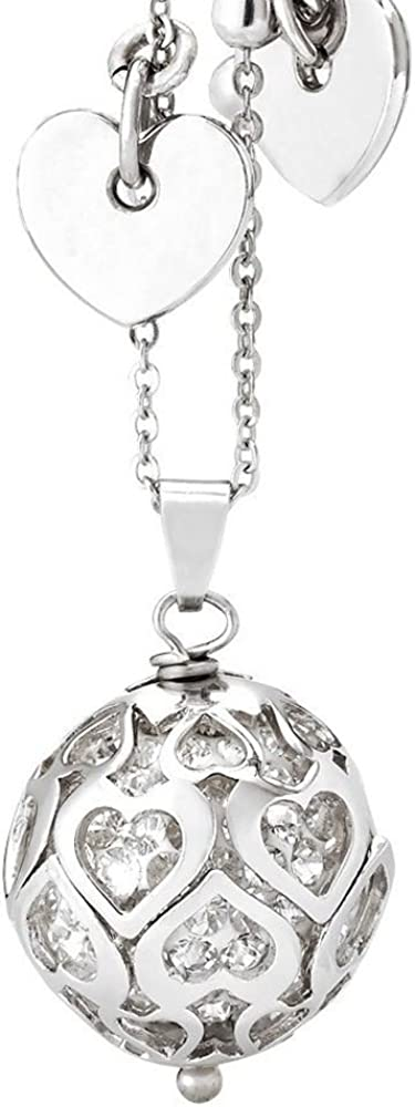 Boccadamo,collana con strass e cuori,con charms a forma di cuore lungo la catena SR/GR04