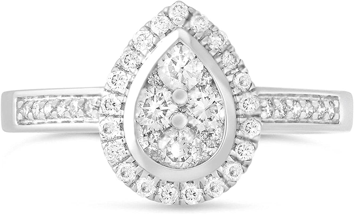 Pear Engagement Rings for White Moissanite Limited time free shipping Ranking TOP19 Gold Women